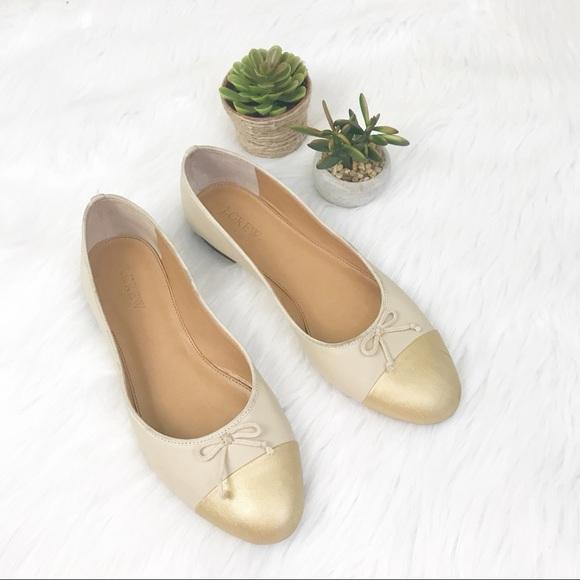 fdd167b7b7ef5 J. Crew Shoes - J Crew Uptown Cap Toe Ballet Flats SZ 8.5